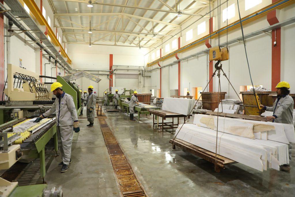 Marble Factory Floor